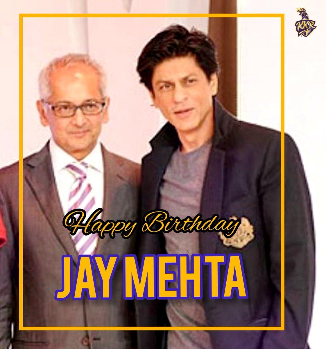 Here's wishing #JayMehta sir a very happy birthday good & health! ❤️ #HappyBirthdayJayMehta   @KKRiders