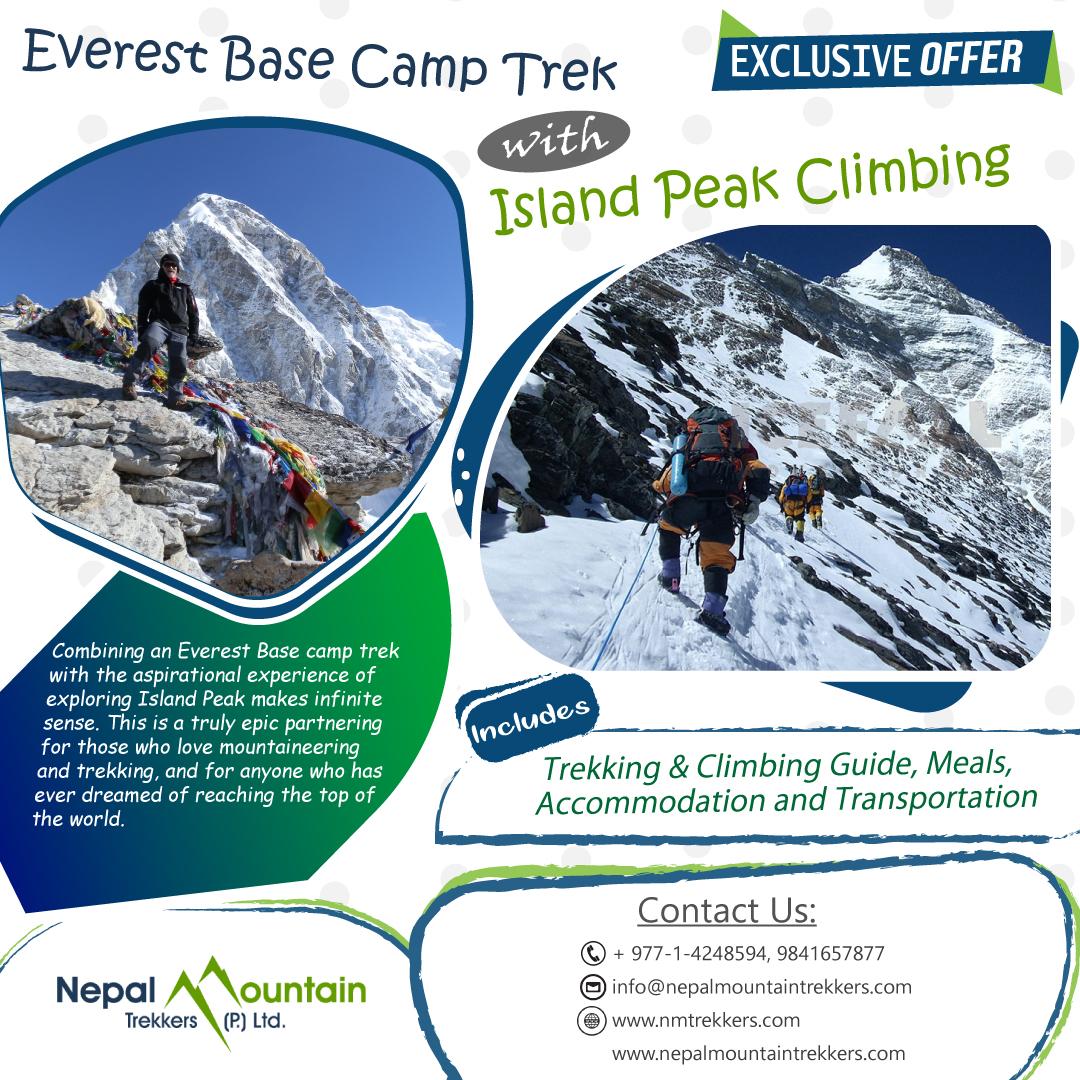 Combining an Everest Base camp trek with the aspirational experience of exploring Island Peak makes infinite sense.   Read More:   #Everest #everestbasecamp #ebctrek #island  #islandpeak #islandpeakclimbing #peak #mountain #climbing #trekking #adventure
