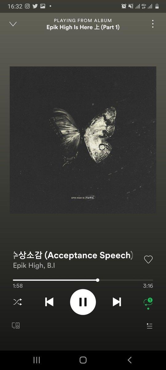 aku ulang ulang terus lagunya 😭😭  ACCEPTANCE SPEECH FT BI #EpikHighIsHere #비아이 @ikon_shxxbi