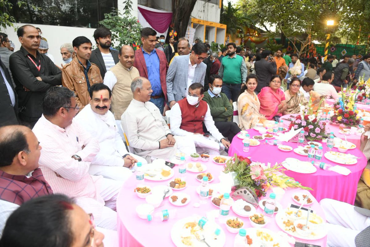 Happy to have attended lunch by Honorable home minister Sh. @drnarottammisra ji on occasion of #MakarSankranti at his residence in Bhopal.  @BJP4MP