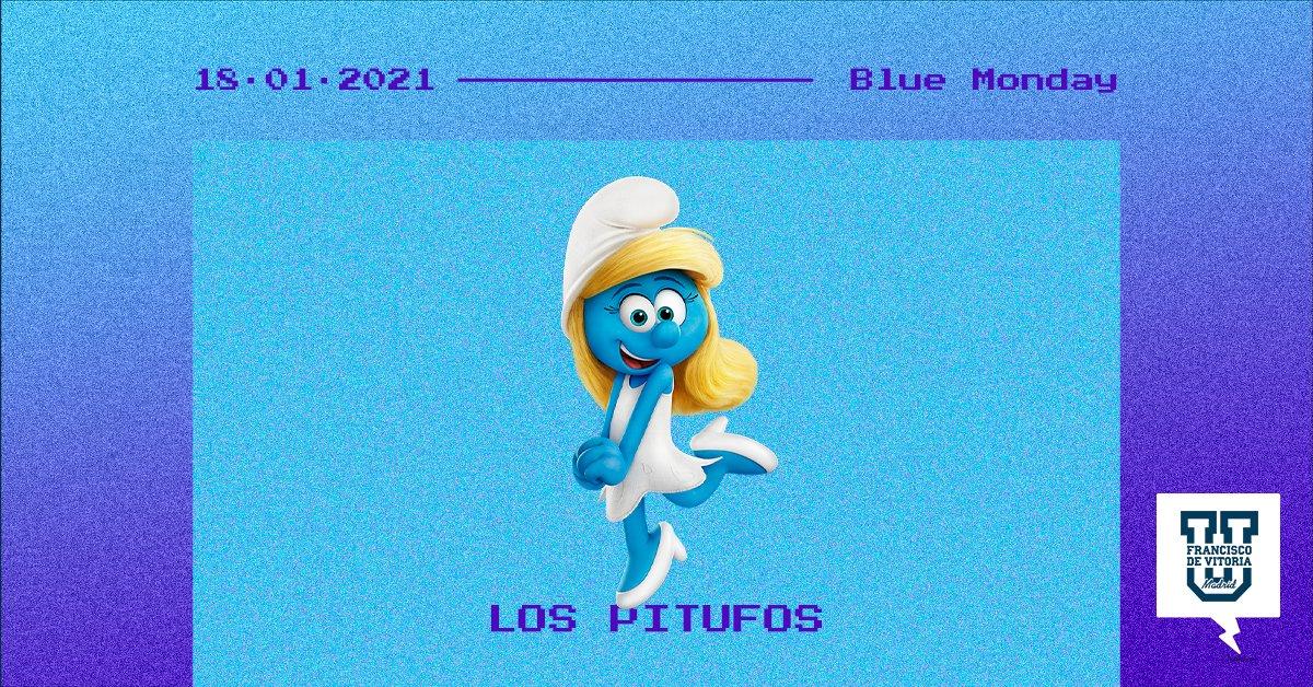 Los Pitufos, la mítica serie de televisión creada por el dibujante belga Peyo. #BlueMonday