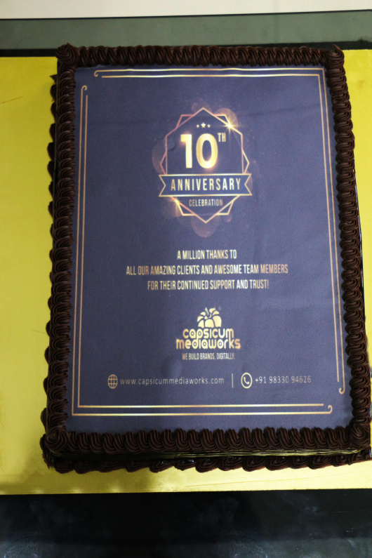 Check out a few glimpses of the Capsicum Mediaworks' 10th Year #Anniversary #Celebration at the workplace! To know more about the team visit.  #CapsicumMediaworks #10thanniversary #milestone #NewBeginnings #success #journey #goldenmemory😊♥️ #itindustry