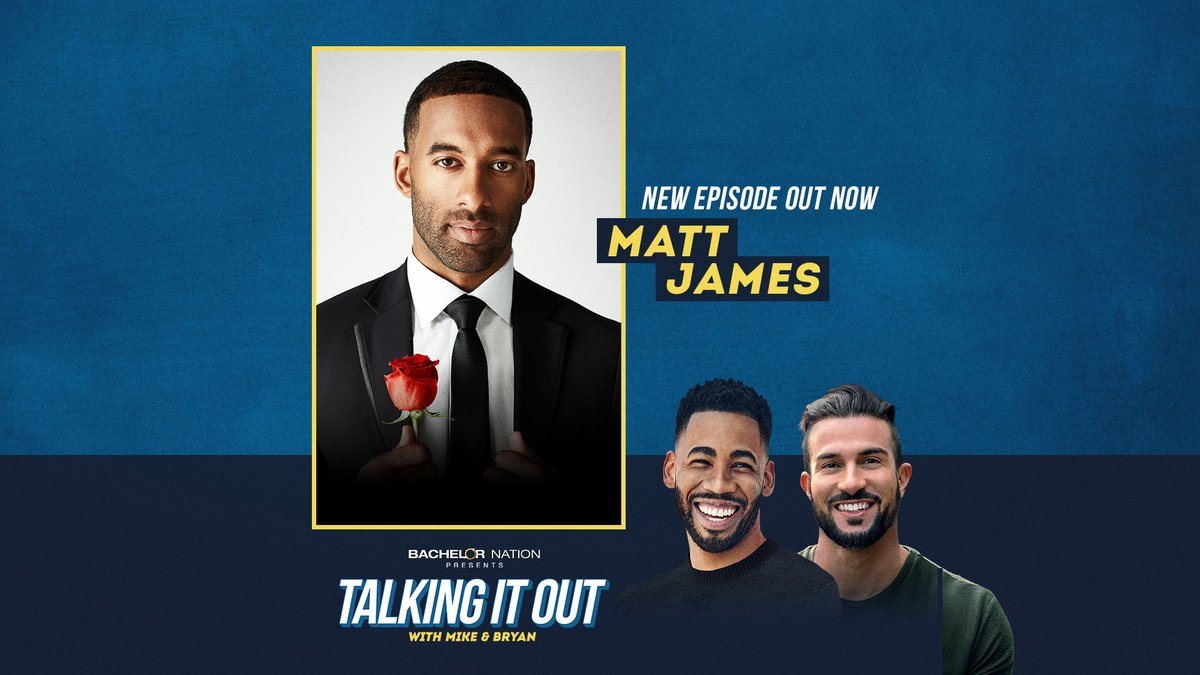 #TheBachelor @mattjames919 joins @MikeJohnson1_ and @TheAbDoctor on this weeks episode of Talking It Out! The guys grill Matt about his dating history, and life before the show. PLUS: boxers or briefs? 🧐 Listen to the full episode to find out...