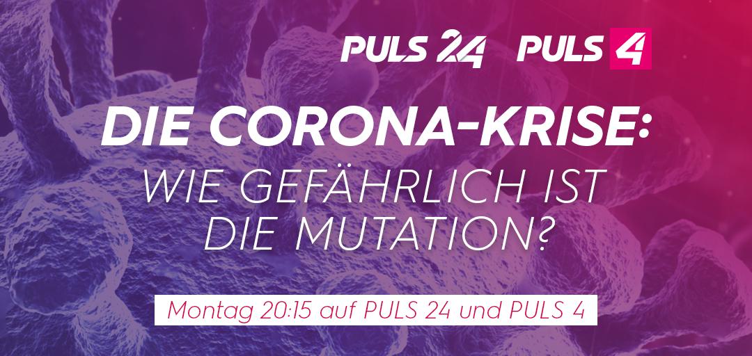 Über die neue Mutation sprechen @corinnamilborn und @thomas_mohr heute in einer Sondersendung mit @sebastiankurz, @rudi_anschober, @neuwirthe, @EvaSchernhammer und @abergthaler.   📢 20.15 Uhr auf #puls24 und @PULS4.