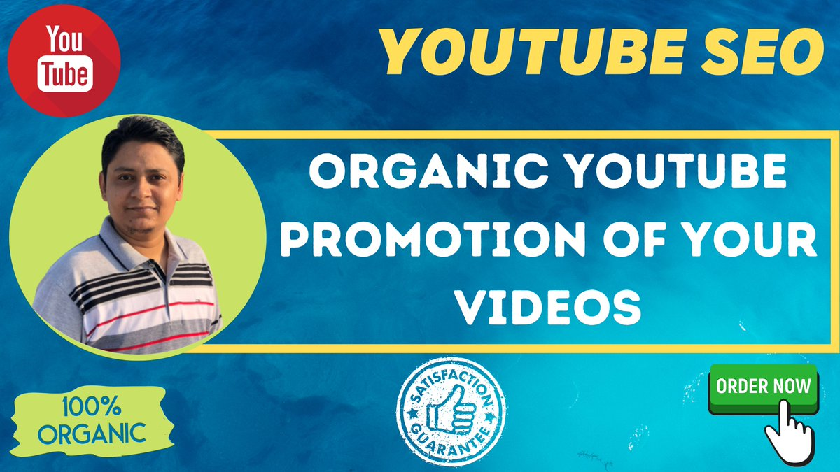 Steps of youtube SEO Step #1: YouTube Keyword Research Step #2: Publish a High-Retention Video Step #3: YouTube Video Optimization Step #4: Promote Your Video #youtube #youtubechannel #youtubefashion #youtubeblack #youtubemarketing #video #SEO #socialmedia #fiverr #videomarketing https://t.co/8QxpDj5wkG