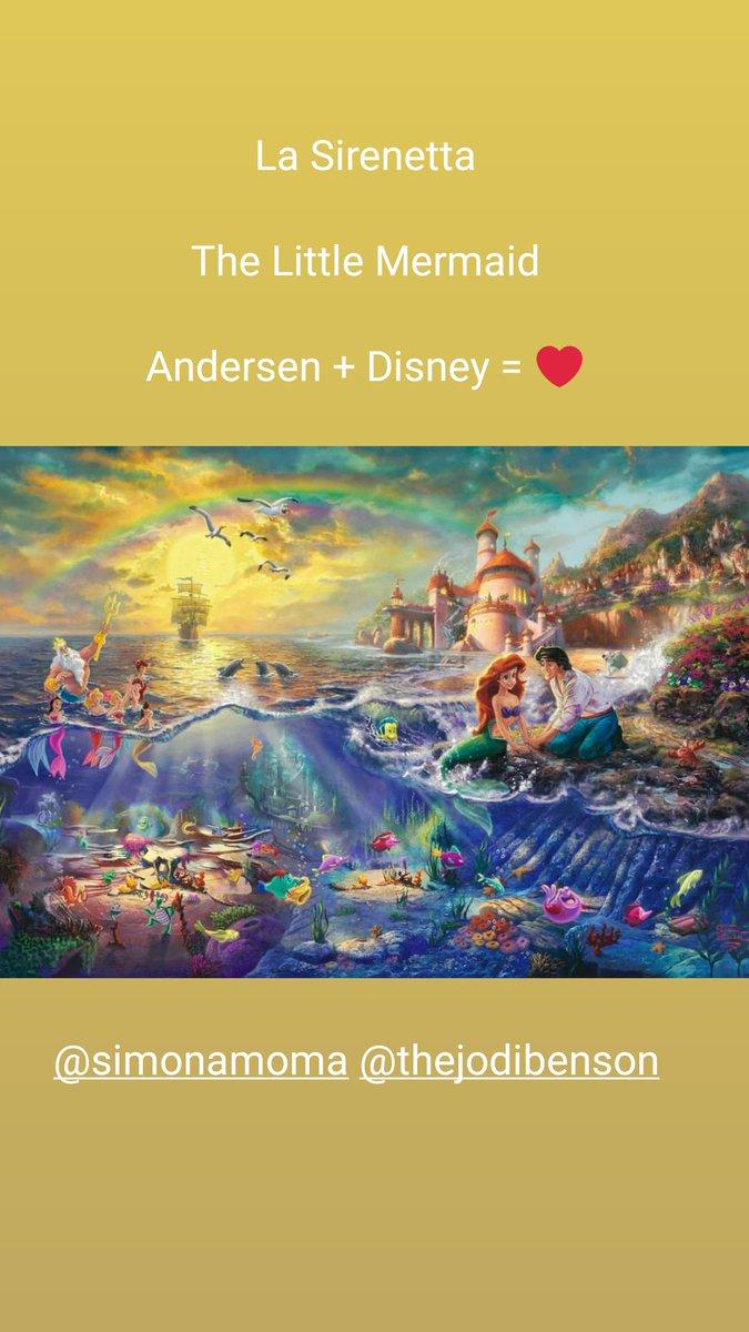 La Sirenetta  The Little Mermaid  Andersen + Disney = ❤  #lasirenetta #thelittlemermaid #disney #andersen #alanmenken @simonamoma @thejodibenson @AIMenken @Disney @Disney_IT