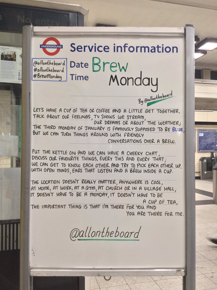 Let's turn #BlueMonday into #BrewMonday, have a brew preferably with good old @YorkshireTea (only the finest in all of the land), have a catch up with friends, family & colleagues. Spread some love and kindness 🥳🤗  📸 @allontheboard
