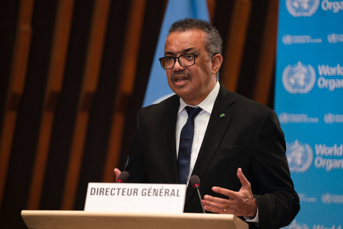 """""""It's not too late. I call on all countries to work together in solidarity to ensure that within the first 100 days of this year, vaccination of #healthworkers & older people is underway in all countries. Together, we must change the rules of the game, in3⃣ ways""""-@DrTedros #EB148"""