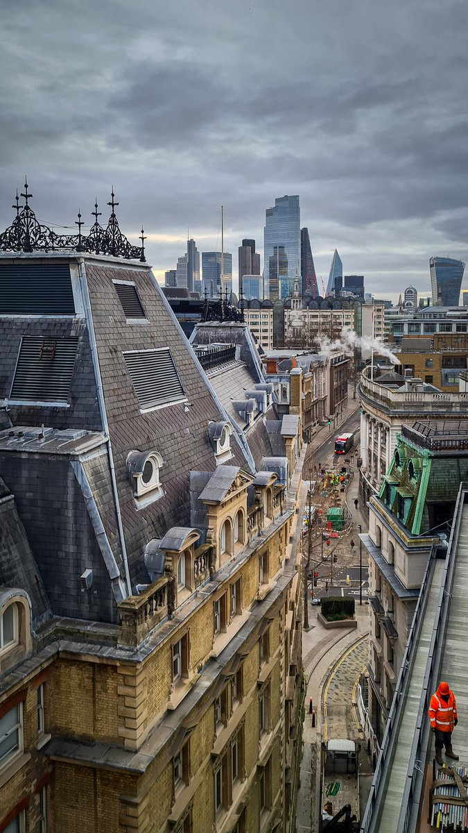 Todays rooftop view from 16 Old Bailey #mobilephotography #londonlife