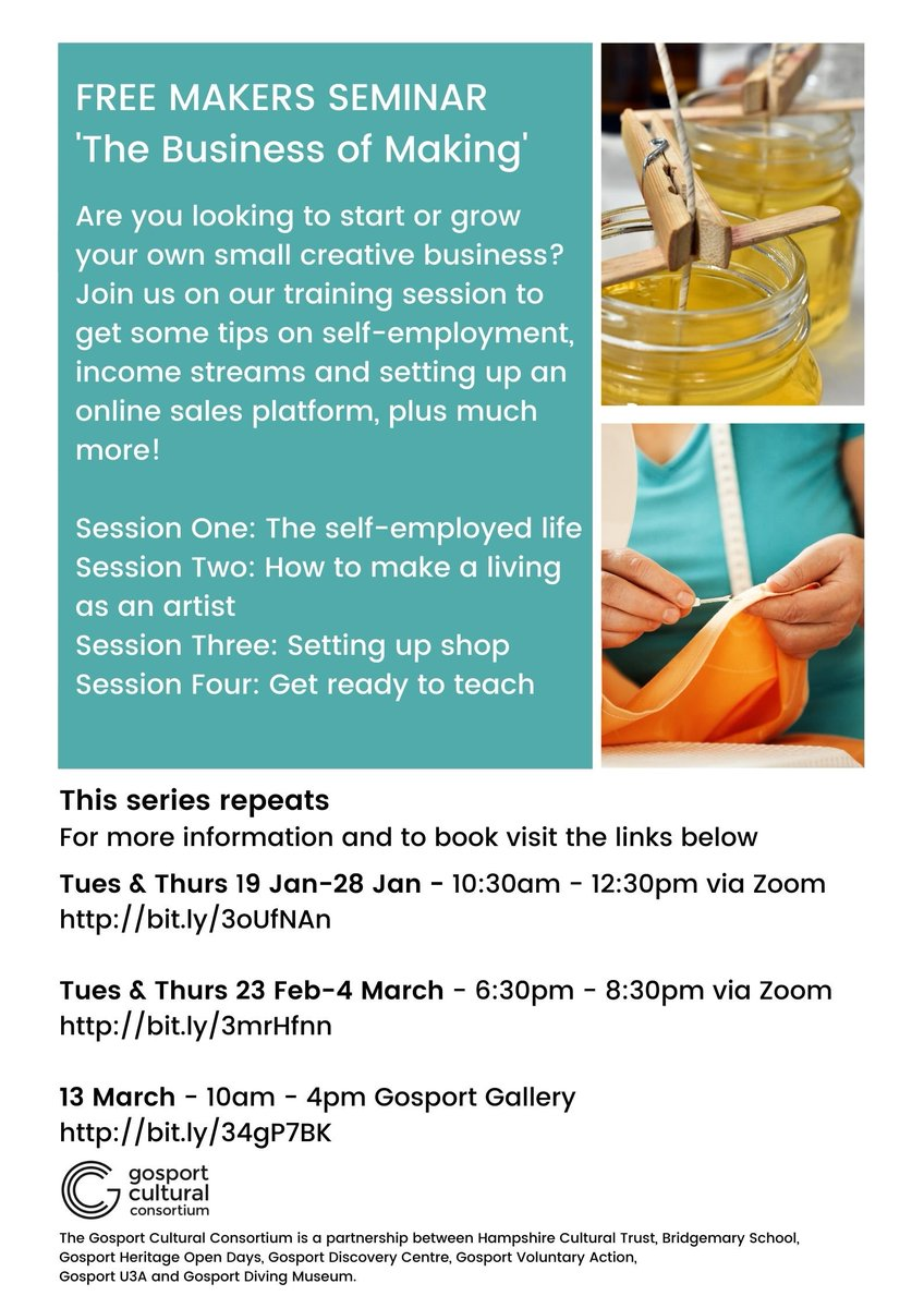 If you have been learning new skills and crafts being perfected during lockdown then definitely worth a look at this event @HantsCulture @SEARCHGosport #crafts #business #makers #gosport #culture