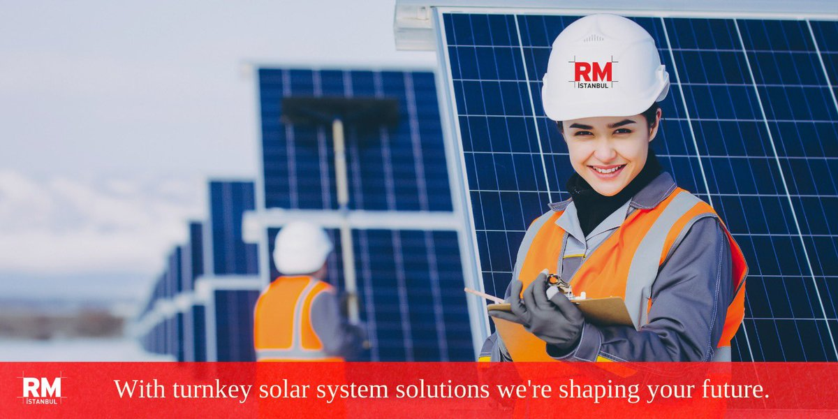 RM İstanbul is proud to offer a brighter future with its Solar System solutions. #solarsystem  #energy  #cleanenergy #future