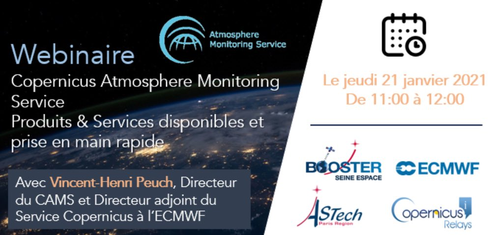Parlez-vous français? Next week you can learn about the data and services available from the #CopernicusAtmosphere Monitoring Service, straight from CAMS Director @VHPeuch. The online event starts at 11:00CET on 21 January. More info and registration➡️bit.ly/3bCgg6W