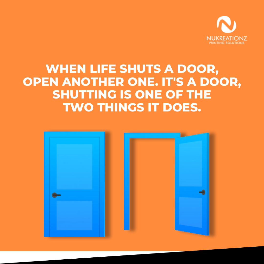 DOORS ARE MEANT TO SLAM SHUT.  or open up.  Those are the two things they can do.  Don't take rejection as as death sentence. Work on  it and knock on other doors.  Wishing you open doors this week.  Happy Monday ;)  #MondayMotivation #MondayMorning #MondayVibes