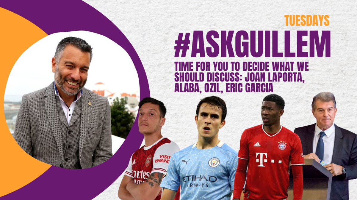 #AskGuillem time once again. So send in your questions. Let's talk some football.