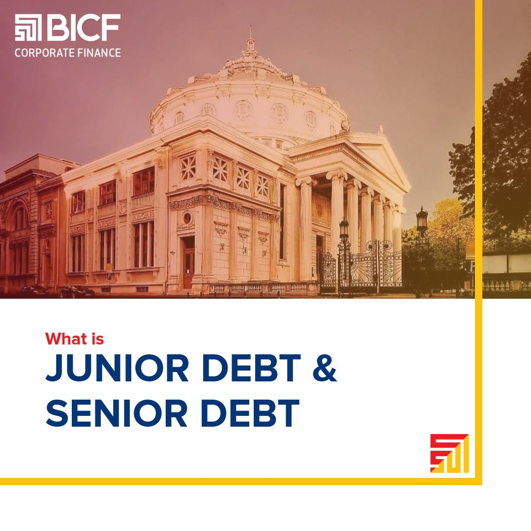 The difference between junior debt and senior debt is the priority in which a firm pays the debt claims. #mergersandacquisitions #investmentbanking #corporatefinance #capitalmarkets #debt #financialeducation #BICF #romania