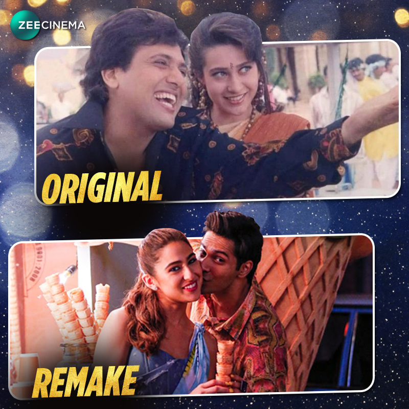 Original or remake, which version of this song made you grove?  #ZeeCinemaME #CoolieNo1 @govindaahuja21 #KarismaKapoor @Varun_dvn #SaraAliKhan