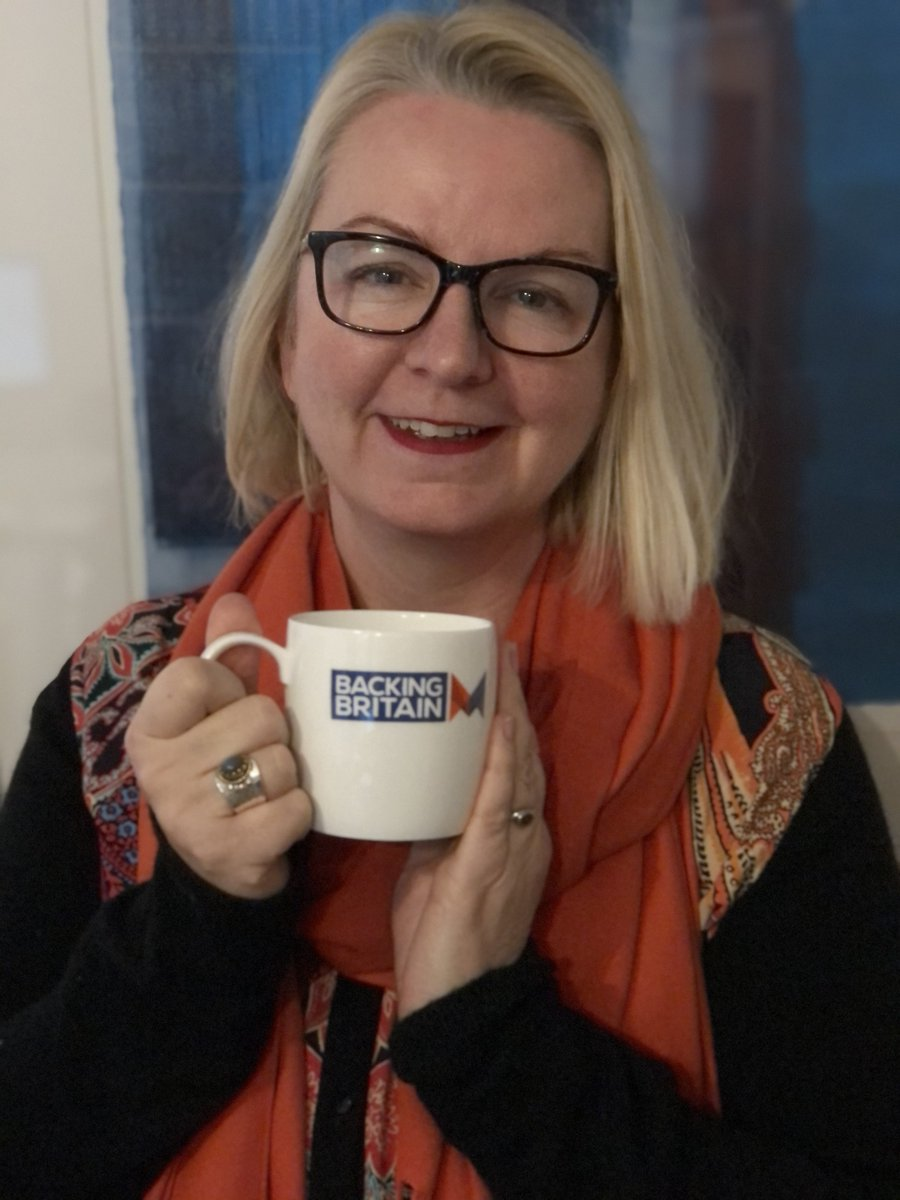CIO, @DoloresSanders is supporting @samaritans in turning #BlueMonday into #BrewMonday by sticking the kettle on, and having a cuppa with friends, family and colleagues! Thanks to @madeinthemids for the #backingbritain mug!    #MondayMotivation #ukmfg