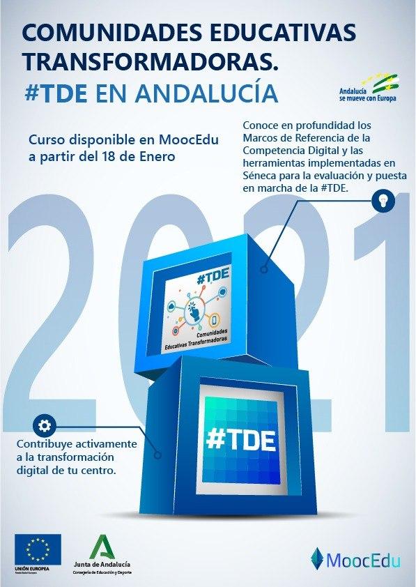 ‼️Nuevo MOOC de @EducaAnd⤵️ Comunidades Educativas Transformadoras 📅 Fecha de inicio: 18 de enero Fecha fin plazo de solicitudes: 25 de enero Apúntate ya en   @TDE_Andalucia_   #TDE #MoocEdu
