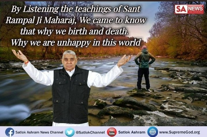 👉 Know the reasons behind birth&death..know the way how we can reach to the God.  Watch satsang on sadhna tv at 7:30 pm & #MustListen_Satsang by @SaintRampalJiM  #GodMorningMonday.