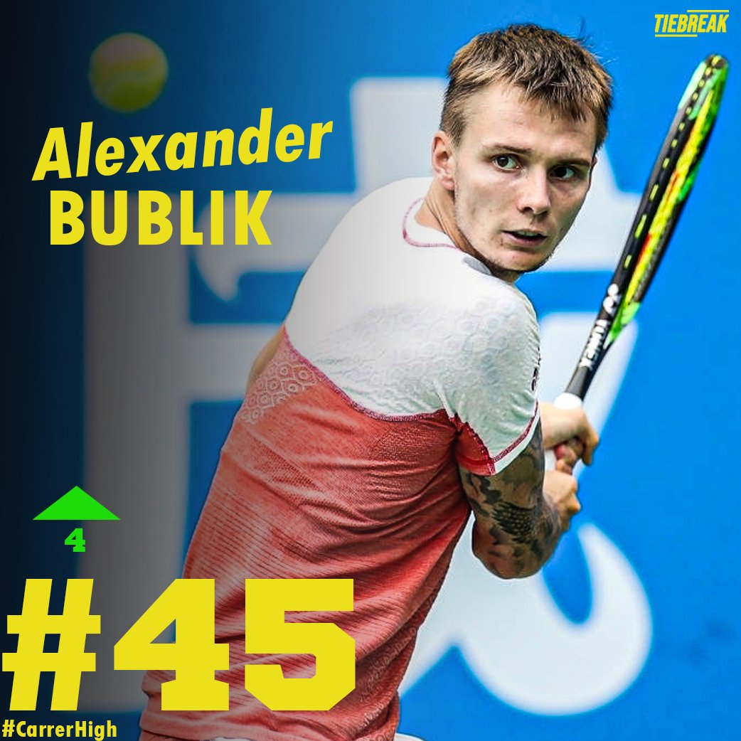 🔝NEW CAREER HIGH🔝 Great performance, great reward 👏👏👏 🇰🇿 Alexander Bublik F at @atptour Antalya Open . . 📸Getty #newcareerhigh #rankings #alexanderbublik #bublik #atp #atptour #tiebreak