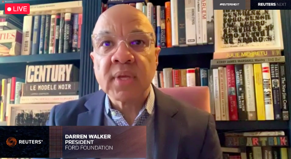 """Sometimes we need those troublemakers to hold us to account, to challenge our privilege and our power. Even if it makes us uncomfortable.""  @FordFoundation boss @darrenwalker on how to reform #philanthropy:  https://t.co/PNqxC9duiQ #ReutersNext @_EVPA_ @The_EFC https://t.co/3CVqiJwnbD"