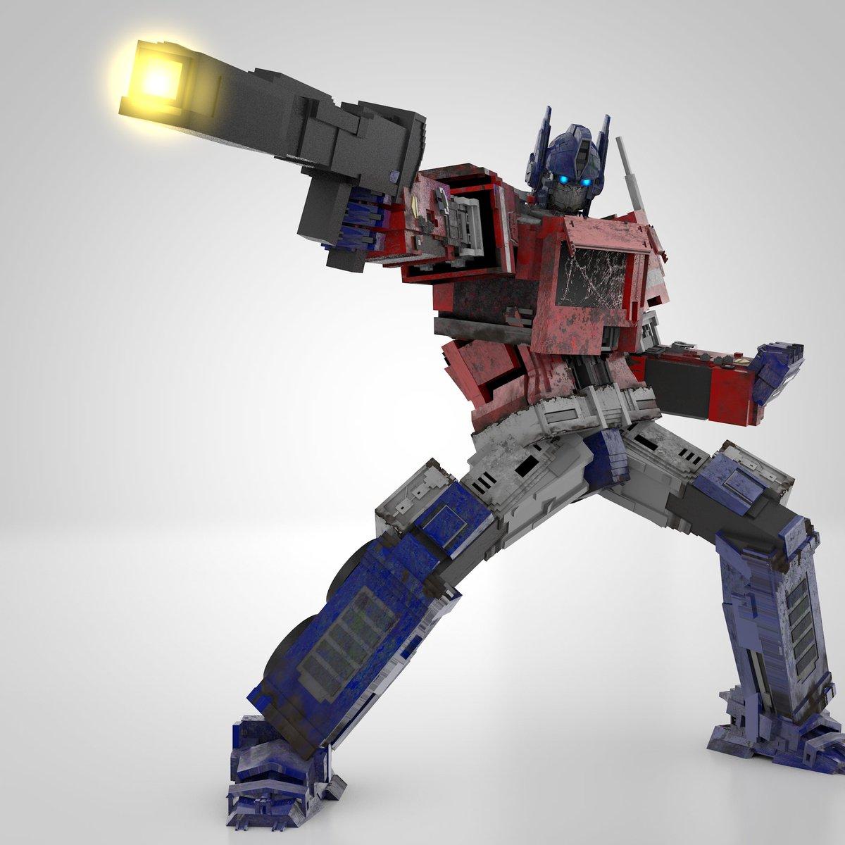 The great buddha, version 2021 (Optimus Prime obviously)  #optimusprime #transformers #autobots #bumblebeemovie #cinema4d #3dmodel #megatron #decepticons