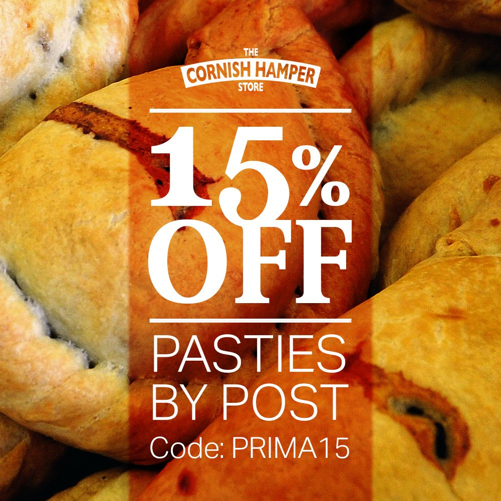 Don't miss our epic 15% OFF Pasties by Post range & stock up on your favourite meal. Or, alternatively, send a box as a gift to a friend or family member who might need a bit of a pick-me-up. Use code: PRIMA15 at checkout.  #pasty #cornwall #cornish #offer