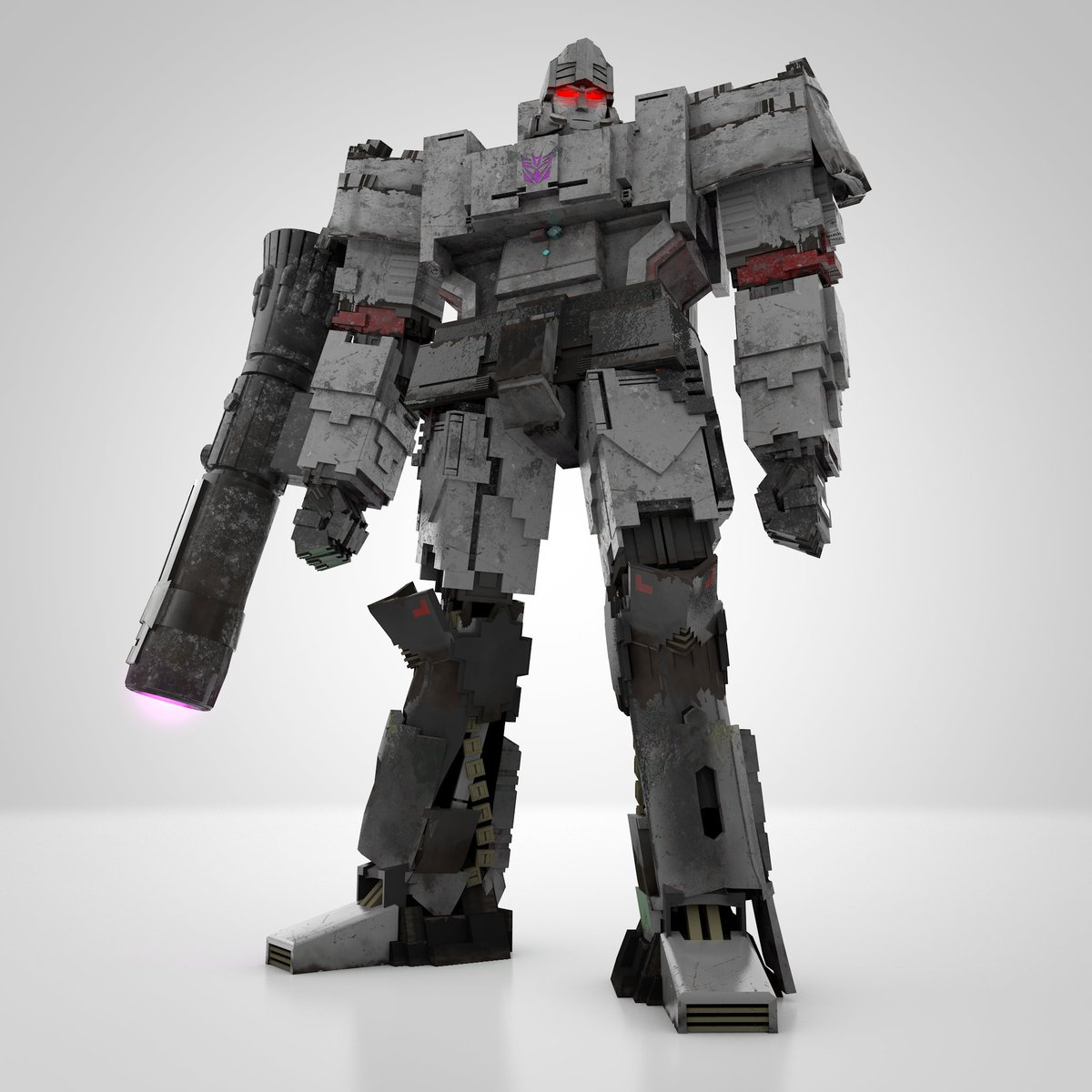 Megatron with a new canon and news G1 eyes styles  #optimusprime #transformers #autobots #bumblebeemovie #cinema4d #3dmodel #megatron #decepticons
