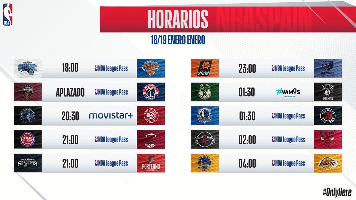 HOY:  Euroleague:  Real Madrid – Estrella Roja (19:00h)  NBA, #MLKDay:  Y este es el calendario semanal