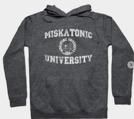 Be prepared for winter (or Cthulhu coming). Miskatonic University #tshirt & #hoodies are what you need! #cthulhu #arkham #lovecraft #hpl #winterfashion #winter #rpg