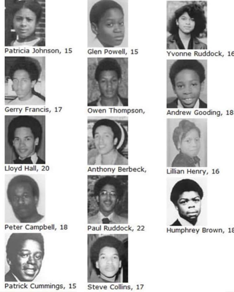 18 January 1981: 13 teenagers were murdered in a racist arson attack on a house party in New Cross, London. #NewCrossFire #13deadnothingsaid #NoJusticeNoPeace #RIP