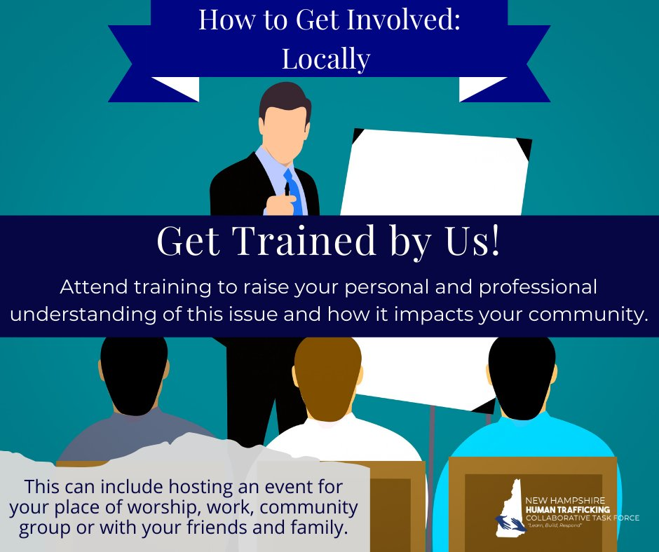 Join us this Wednesday(1/20) for our Parent & Youth Staff training session or request a training from us at this link:  #EndTrafficking #NH #HumanTrafficking #NationalHumanTraffickingPreventionMonth #FreedomFirst