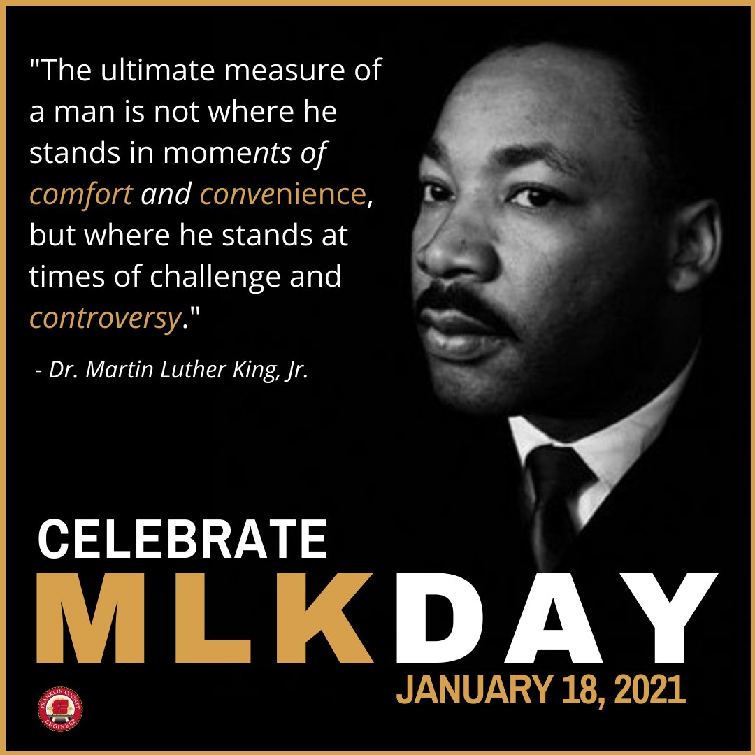 Our offices are closed today to commemorate the life and legacy of Dr. Martin Luther King, Jr. We will reopen tomorrow at 7:00 a.m. #MLKDay