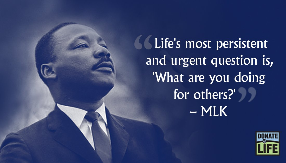 On this National Day of Service, thank you to all who are helping others. You can help save and heal lives by registering your decision to be an organ, eye and tissue donor at . #MLKDay #DayOfService #DonateLife #DonateLifeVa