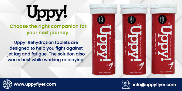 Choose the right companion for your next journey.  Uppy! #Rehydrationtablets💊 are designed to help you #fight✈️ against #jetlag and #fatigue. The solution also works best while working or playing.  🤩Get exclusive deals on red tubes ➡️