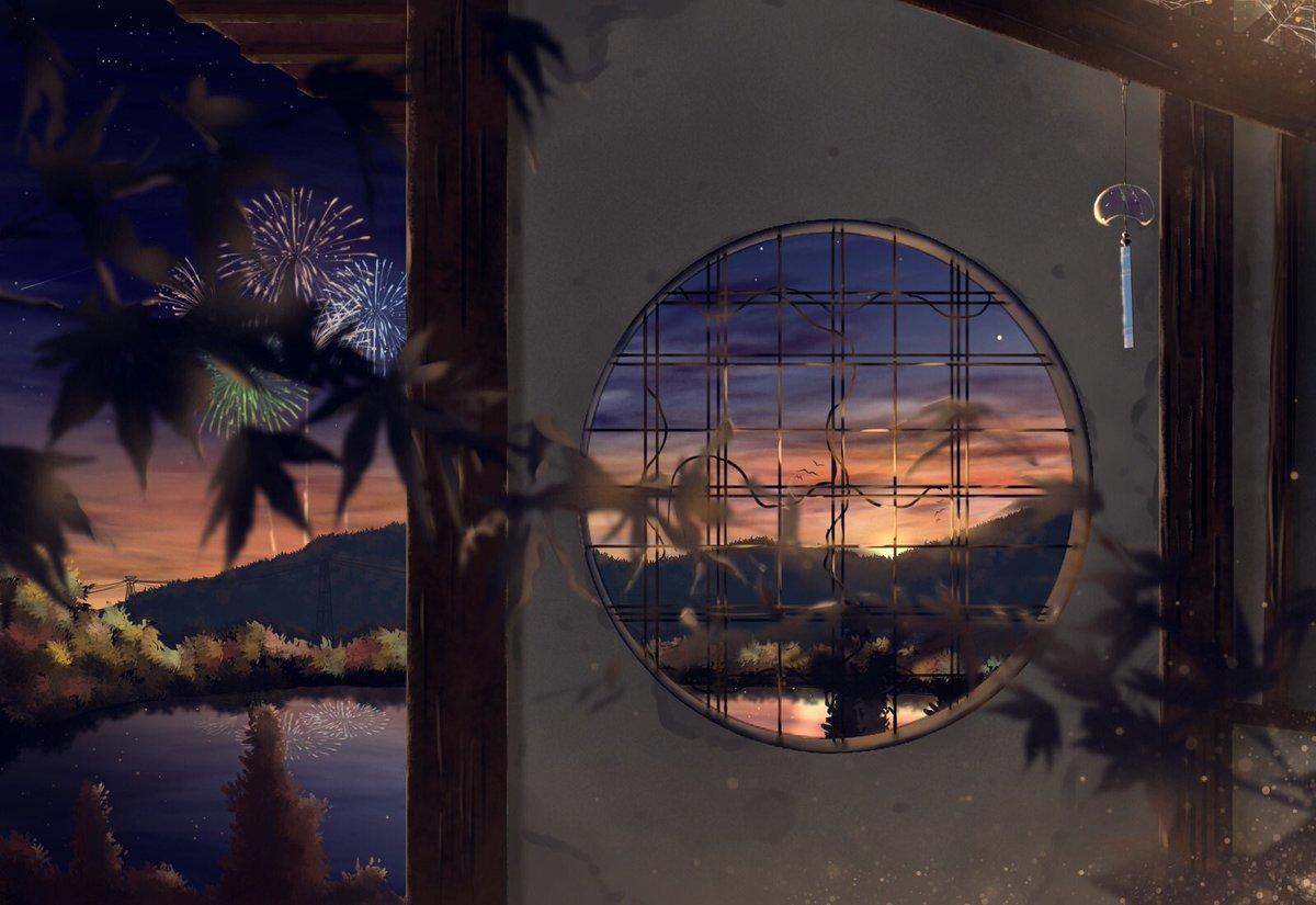 #私の絵柄が性癖に刺さる人に届いてほしい 主に空を描いてます