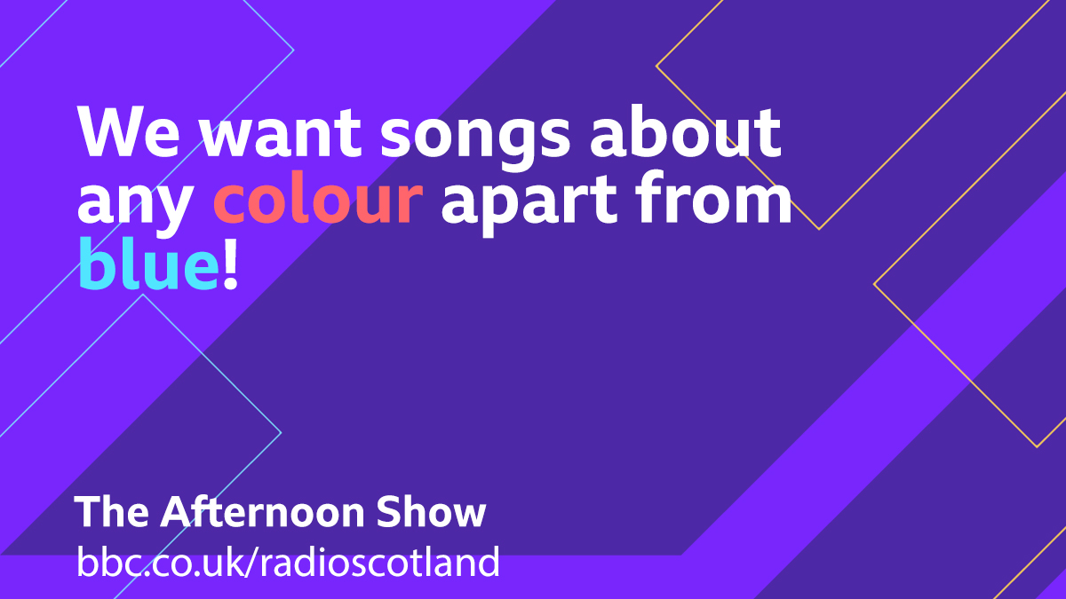 It's #BlueMonday – but this afternoon we want you to feel anything but blue, so for our Topical Tune we want suggestions of songs about any colour apart from blue.  Let us know your suggestions below 👇  #TheAfternoonShow with @JaniceForsyth from 13:30