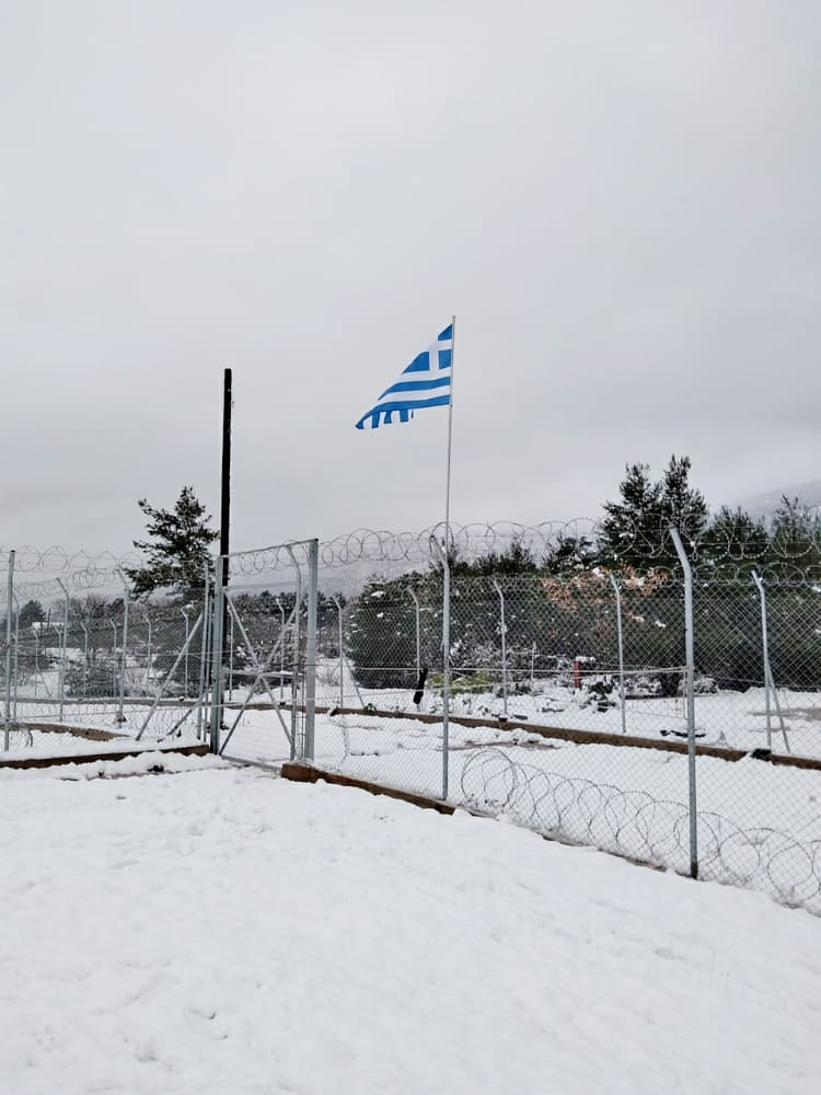 These were taken today at Malakasa camp in Eastern Greece. We have been told that whilst most residents have been moved into heated containers, 900 people are being housed in rub halls with unreliable heating units that regularly fail, leaving people freezing.