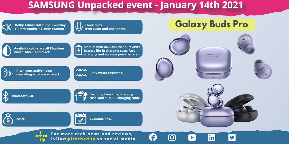 Samsung Unpacked 2021 product announcements event. Check out the new S21 phone lineup and the new earbuds.   #S21 #s21plus #S21Ultra #galaxys21 #galaxys21plus #galaxys21ultra #budspro #galaxybuds #galaxybudspro  #samsung #samsungunpacked #samsungunpacked2021  @SamsungMobileUS