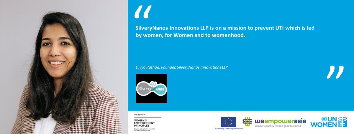 .@UN_Women applauds Ms. Divya Rathod, Founder & CEO of @NanosSilvery for her efforts towards #genderequality & for committing to the @WEPrinciples! If you know any more such #genderchampions, please let us know below! #WeEmpowerAsia #WEPs10. @unwomenasia @EU_Commission