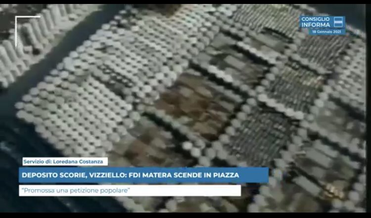 DEPOSITO SCORIE, VIZZIELLO: FDI MATERA SCENDE IN P...