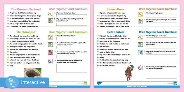 We know you love them so we've made them interactive! Print-free, digital versions of our phonetically-decodable 60-Second Reads are now available for children who are remote learning to complete digitally.  More to follow!