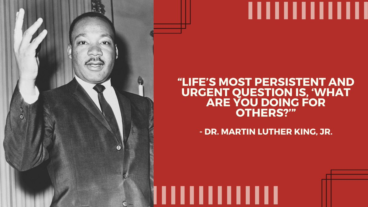 """Life's most persistent and urgent question is, 'What are you doing for others?'"" - Dr. Martin Luther King, Jr.  United Way St. Croix Valley honors service to the community on #MLKDay and every day.  #LIVEUNITED"