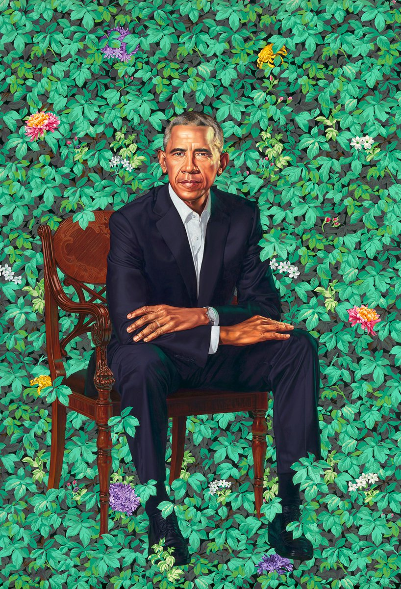 #AfterTrump  President Barrack Obama's portrait will finally be hung in the White House where it belongs.❤️