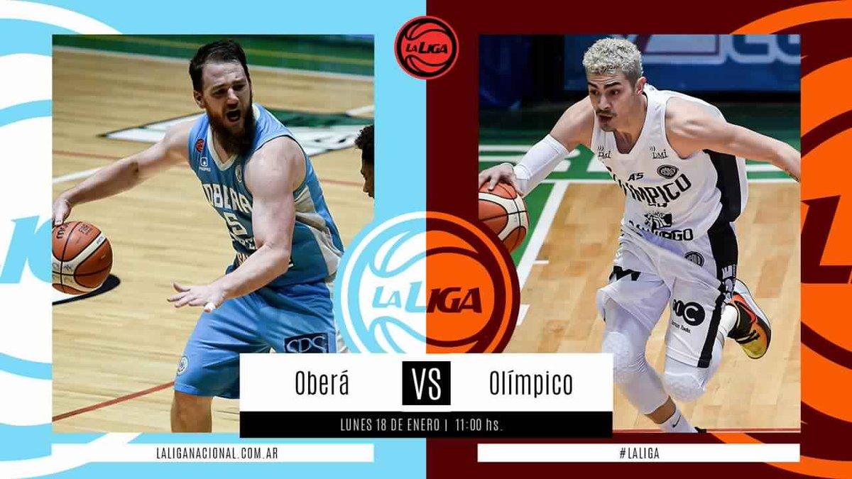 #LigaNacional   ⏰ 11hs  ⛹🏼♂️ @OberaTenisClub vs @OlimpicoLB  📍 Héctor Etchart  📲 En vivo por La Liga Contenidos   La previa 👉