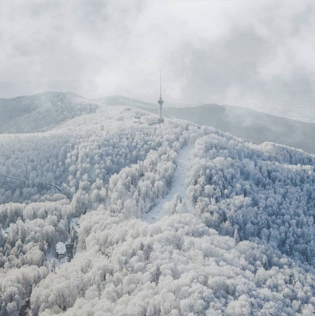 Great way to begin your #Zagreb winter tour is with an idyllic walk along the white forest roads of Medvednica high above everything. ❄️❤️ #LoveZagreb #DreamNowVisitLater
