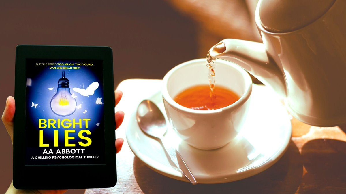 """Cheer yourself up with a #cuppa and a good #book!  ❤️📖☕️  #PsychologicalThriller BRIGHT LIES - """"compelling drama"""". Click on the cover to begin reading.   #BrewMonday #BlueMonday #lockdown #reading #Kindle #KindleUnlimited #coffee #tea #books #ebook #ebooks"""