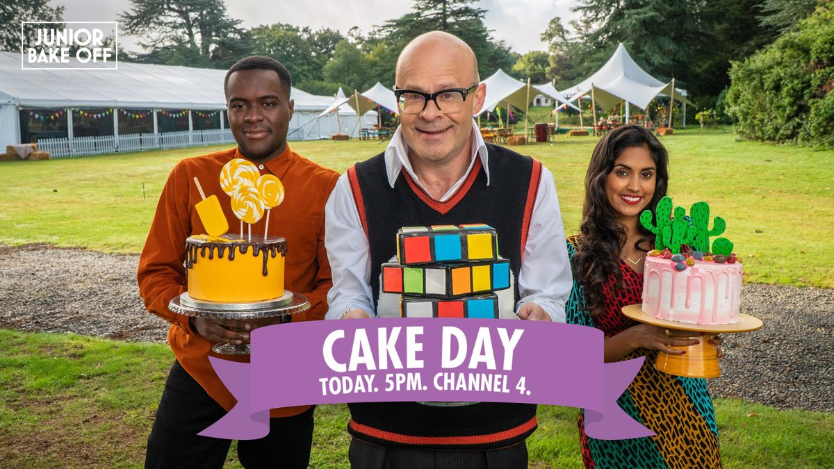 Will eight talented young bakers find life in the tent a piece of cake? Join us this afternoon at 5pm on @Channel4 as Heat Two gets underway in Junior Bake Off! #GBBO