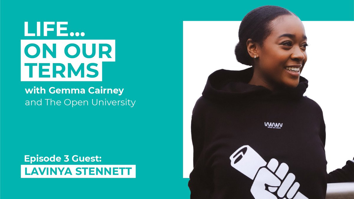 Life...On Our Terms with @OpenUniversity is back! This week I spoke with Lavinya Stennett of @CurriculumBlack on her mission to ensure black history is included in our national syllabus. Tune in to hear how there isn't just one way to achieve anything https://t.co/s8gNwxLHAd https://t.co/AolVFaeaNW