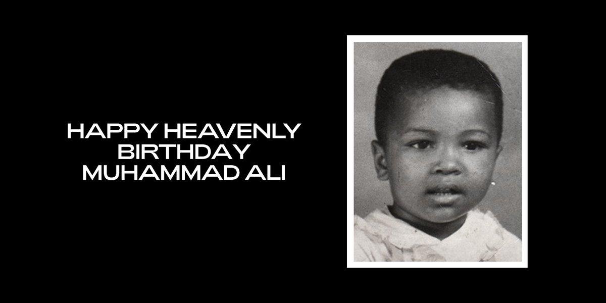 Happy Heavenly Birthday, Muhammad Ali. 🤍 beyonce.com